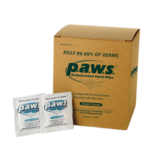 P.A.W.S Antimicrobial Hand Wipes
